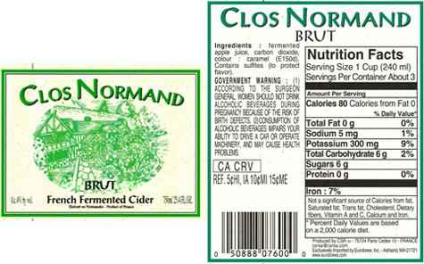 FDA Cider, Apples and Nutrition Facts - Lehrman Beverage Law
