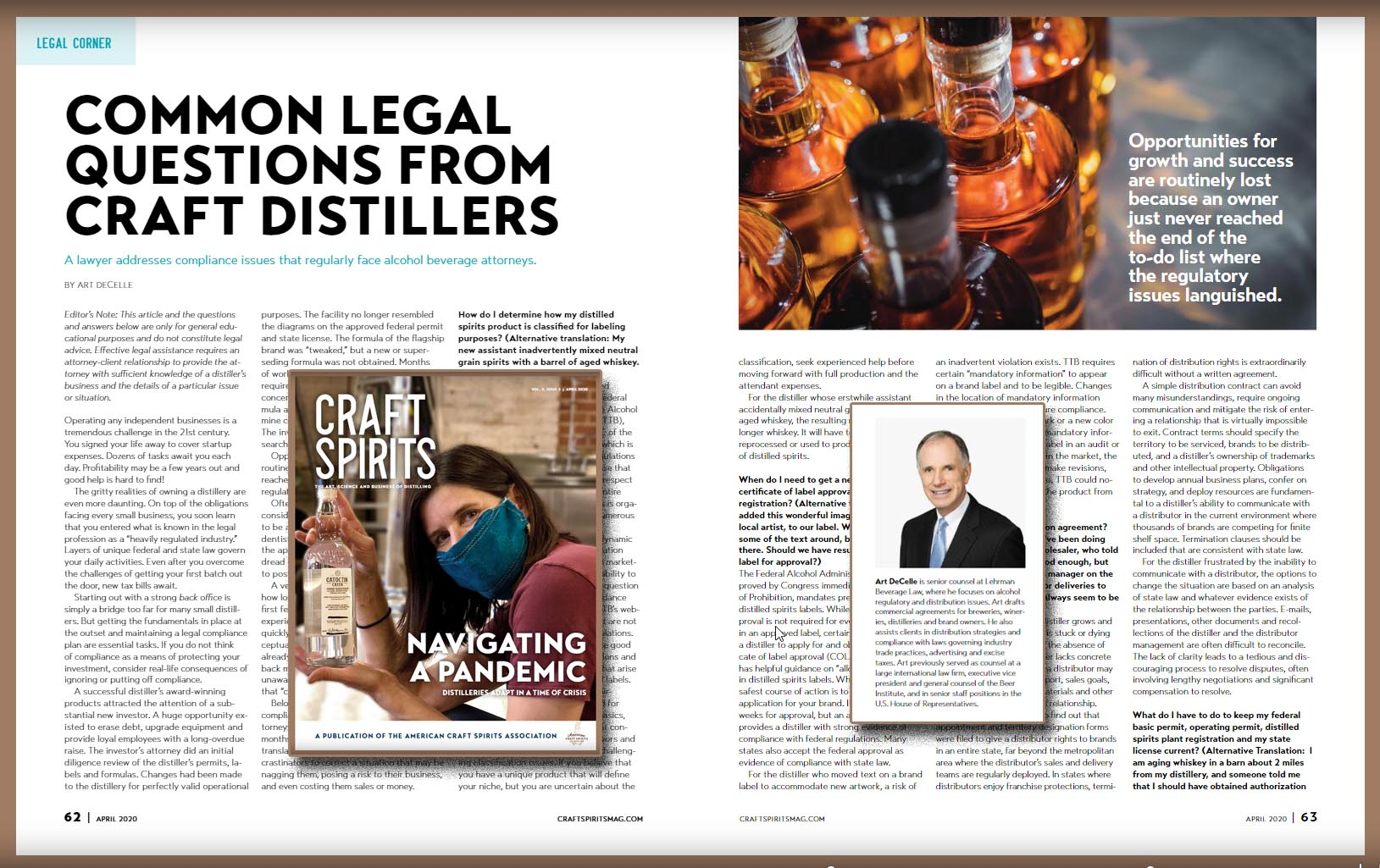 Common Legal Questions from Craft Distillers